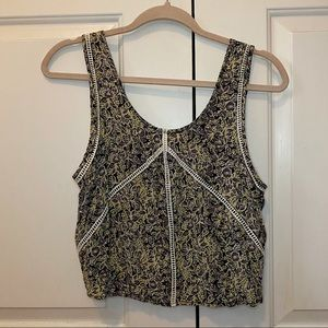LF STORE | Rumor Boutique Green Floral Crop Top